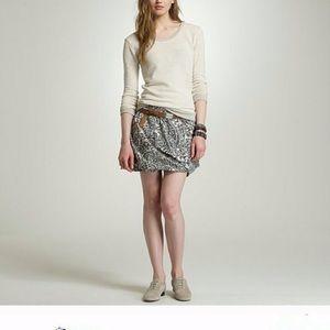 Jcrew Island paisley bubble skirt silk blend sz M